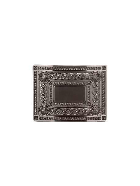 Belt Buckles Paisley | 4 Dome Chrome Black Belt Buckle £25
