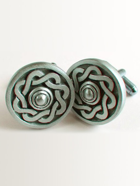 Cufflinks Paisley | Pewter Cufflinks £24