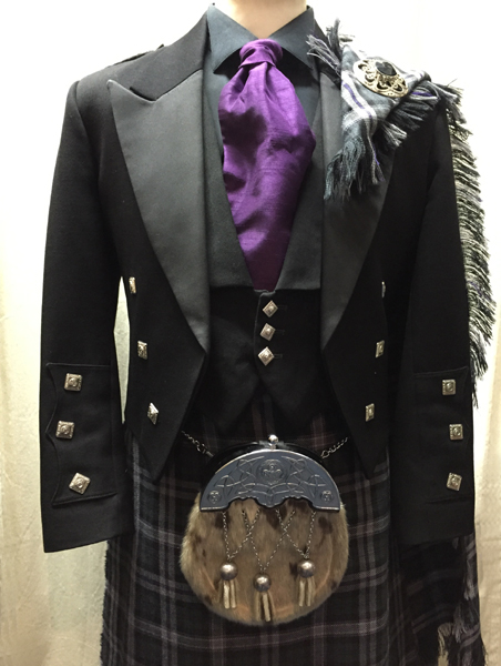 Black Scottish national with plaid included in price | Paisley