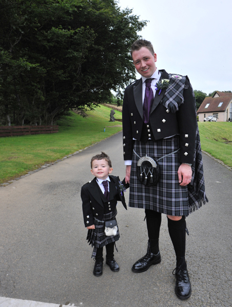 Scottish national tartan with gray tweed or black jacket | Howwood