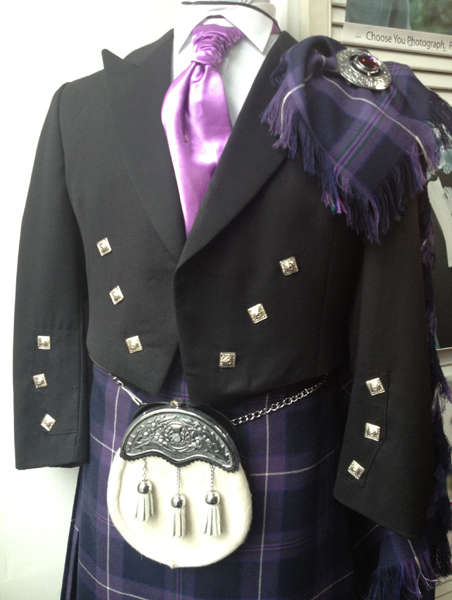 Scottish thistle complete outfit including plaid | Kilbarchan