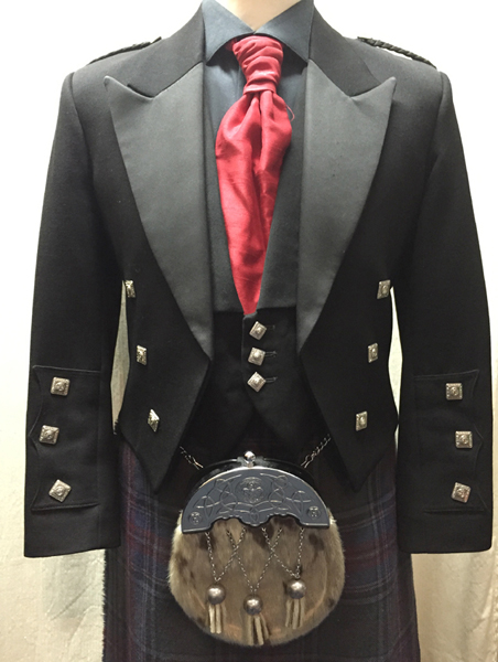 Dress Prince Charlie & Vest Black: £240