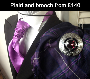 Plaid & brooch | Kilt Hire Johnstone Paisley Howwood