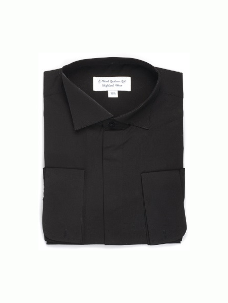 Shirts Johnstone | Victorian Wing Collar Shirt Black £25